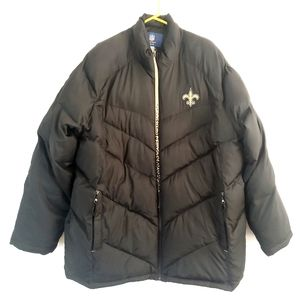 Reebok on field new Orleans saints puffer jacket